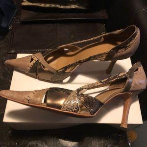 Mixed media heels
